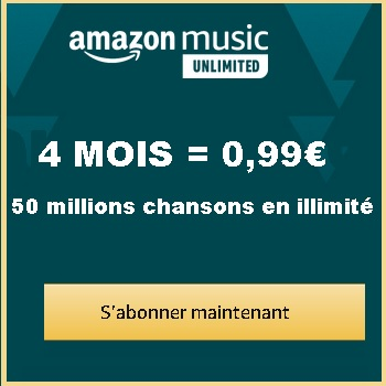 Amazon Music Unlimited 4 mois à 0,99€